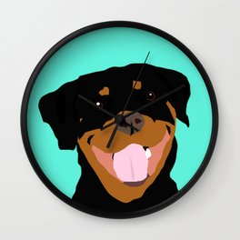 Rottweiler graphic on Mint Wall Clock