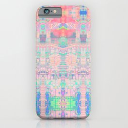 Totem Cabin Abstract - Pastel iPhone Case