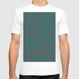 green darkness red spots T-shirt