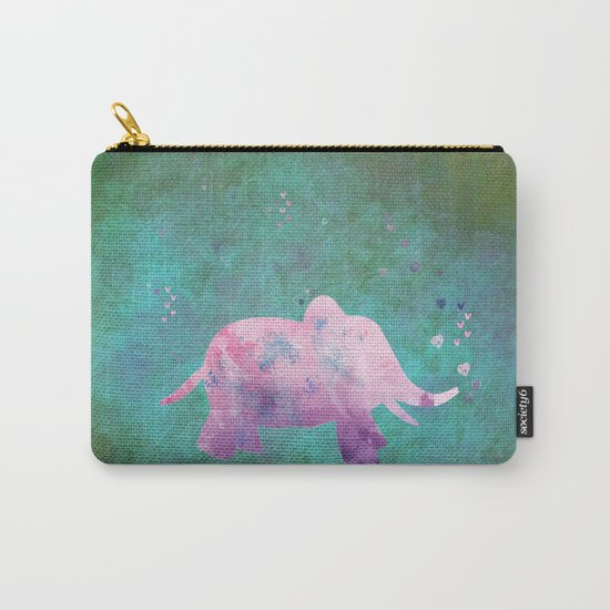 Love is in the air I- Animal Elephant on #Society6 Carry-All Pouch