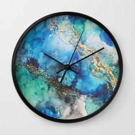 Gold Stream Wall Clock