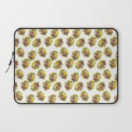 Butter Yellow Pansies Pattern Laptop Sleeve