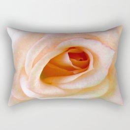 Gentle Pink Rose Rectangular Pillow