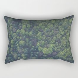The Forest Aerial (Color) Rectangular Pillow