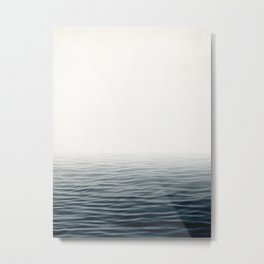 Misty Sea I - Abstract Waterscape Metal Print