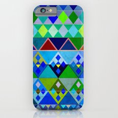 Cobalt Blue Diamond pattern iPhone 6s Slim Case