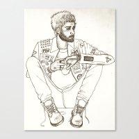 zayn Canvas Prints featuring Zayn by harrydoodles
