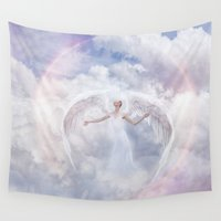 faith Wall Tapestries featuring Blind Faith by Spoken in Red