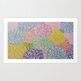 Flowers Festival Art Print