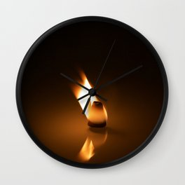 Frankincense cone on fire Wall Clock