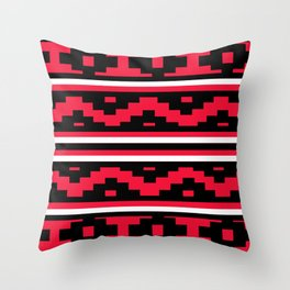 Etnico red version Throw Pillow