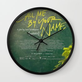 Call Me By Your Name Movie Poster Wall Clock