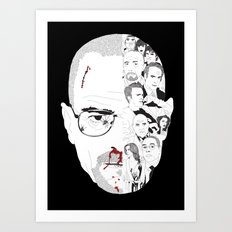 Breaking Bad: Walter White broken down Art Print