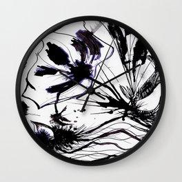 Nanquim Posca Purple Wall Clock