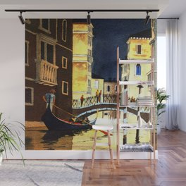 Evening In Venice Italy Wall Mural