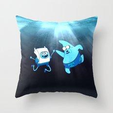 SpongeFinn AdventurePants Throw Pillow