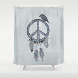A dreamcatcher for peace Shower Curtain