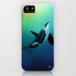 """""""The Dreamer Ascends"""" by artist Amber Marine ~ (Copyright 2015) ~ Orca / Killer Whale Art iPhone Case"""