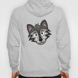 Howl You Doin'? - Cute Wolf - Puppy - 57 Montgomery Ave Hoody