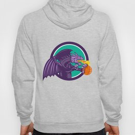 Dragon Fire Holding Basketball Circle Retro Hoody