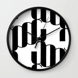 LETTERNS - J - Broadway Wall Clock