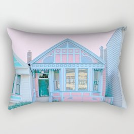 San Francisco Painted Lady Victorian House Rectangular Pillow