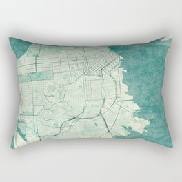 San Francisco Map Blue Vintage  Rectangular Pillow
