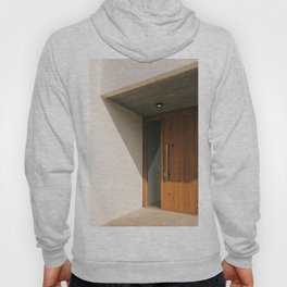 Modern house with a wooden door Hoody