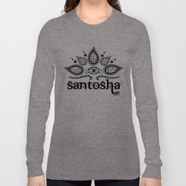 Santosha B&W Long Sleeve T-shirt