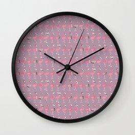 Cool flamingos Wall Clock