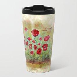 poppy island Travel Mug