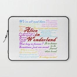 Alice in Wonderland Quotes Laptop Sleeve