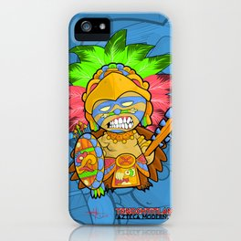 Azteca Moderno - Eagle Warrior Munny iPhone Case