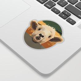 Sweet Lamb in the Barnyard Sticker