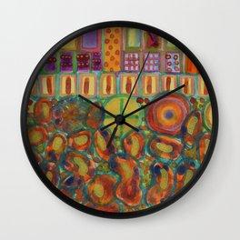 Decorated and illuminated House  Wall Clock