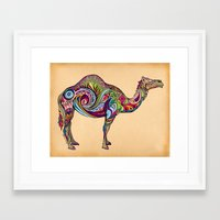 camel Framed Art Prints featuring Camel by Green Girl Canvas