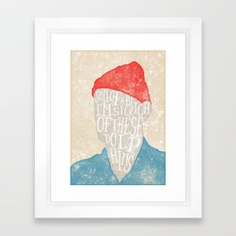 I'm sick of these dolphins Framed Art Print