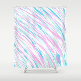 Soft Fluffy Fur Abstract Design Shower Curtain