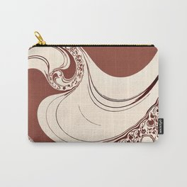 Mocha Spiral Carry-All Pouch