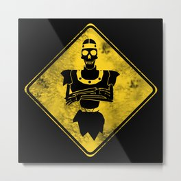 Dragon's Lair Warning Sign Metal Print