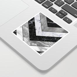 Shimmering mirage - grey marble chevron Sticker