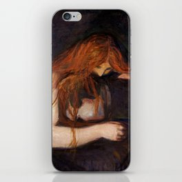 Vampire by Edvard Munch iPhone Skin