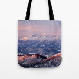 Beautiful sunrise in the Tatra mountains Tote Bag
