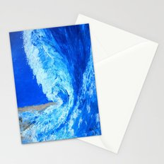 Big Wave  palette knife abstract Stationery Cards