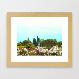 sea view from the park Framed Art Print
