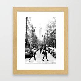 New York City Street Framed Art Print