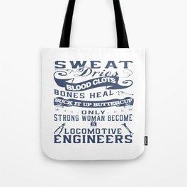 Locomotive Engineer Woman Tote Bag