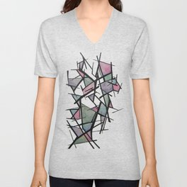 Abstract Triangles  Unisex V-Neck
