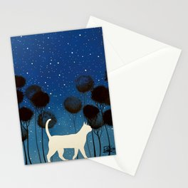 THE POETRY OF A NIGHT by Raphaël Vavasseur Stationery Cards