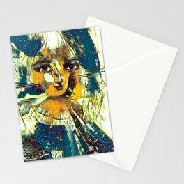 Modern MonaLisa-Le Halston 01 Stationery Cards
